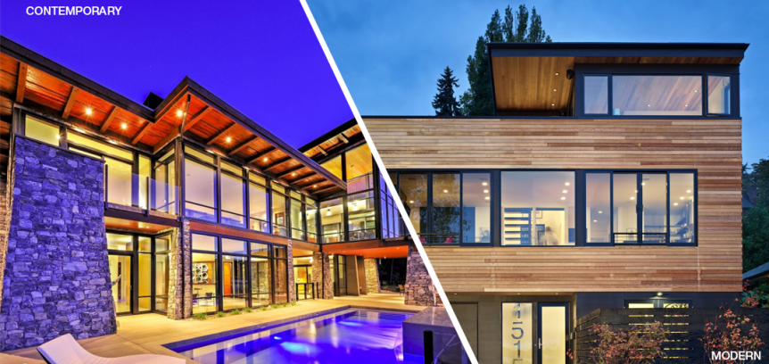 Difference Between Contemporary And Modern Homes