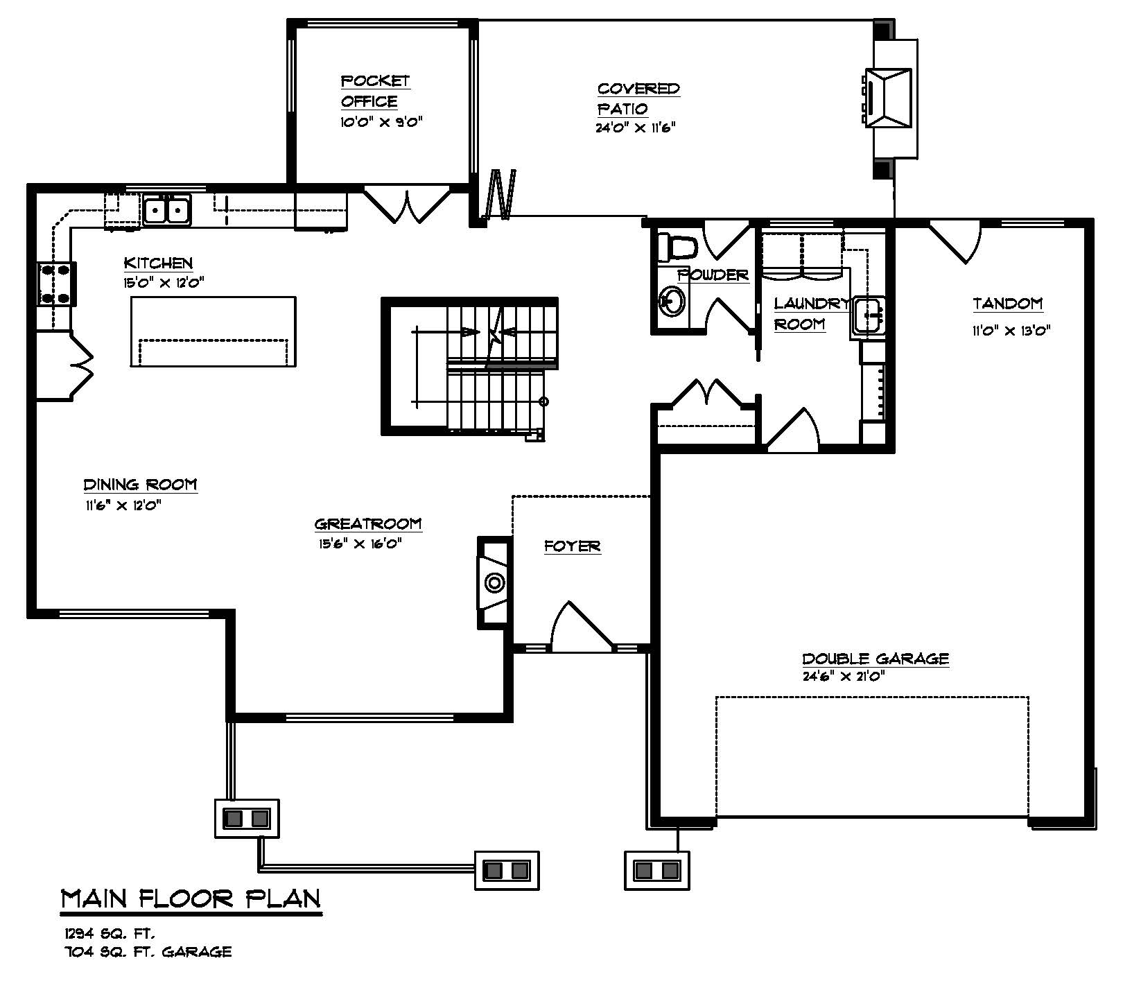Maplewood custom home plans for Custom home floor plans