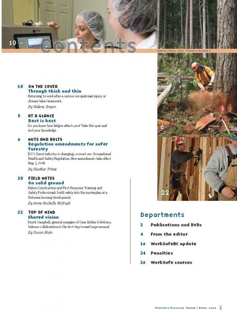 Work Safe Magazine - 2008 pg 3