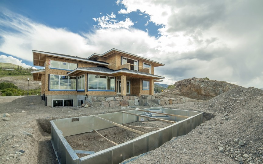 The Vistas Show Home - Exterior, progress