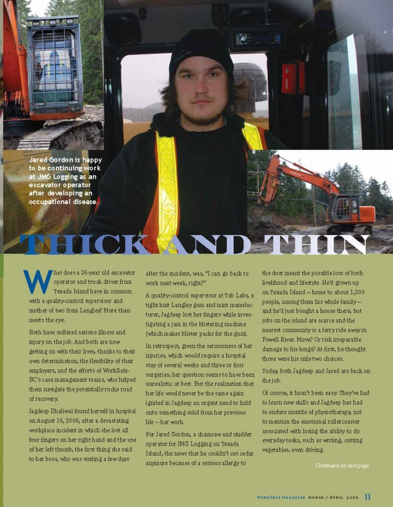 Work Safe Magazine - 2008 pg 11