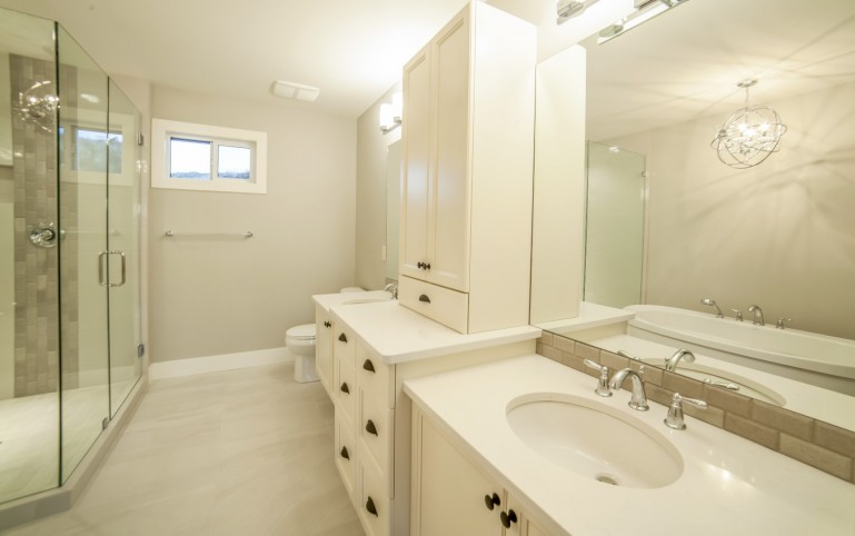White cabinet bathroom