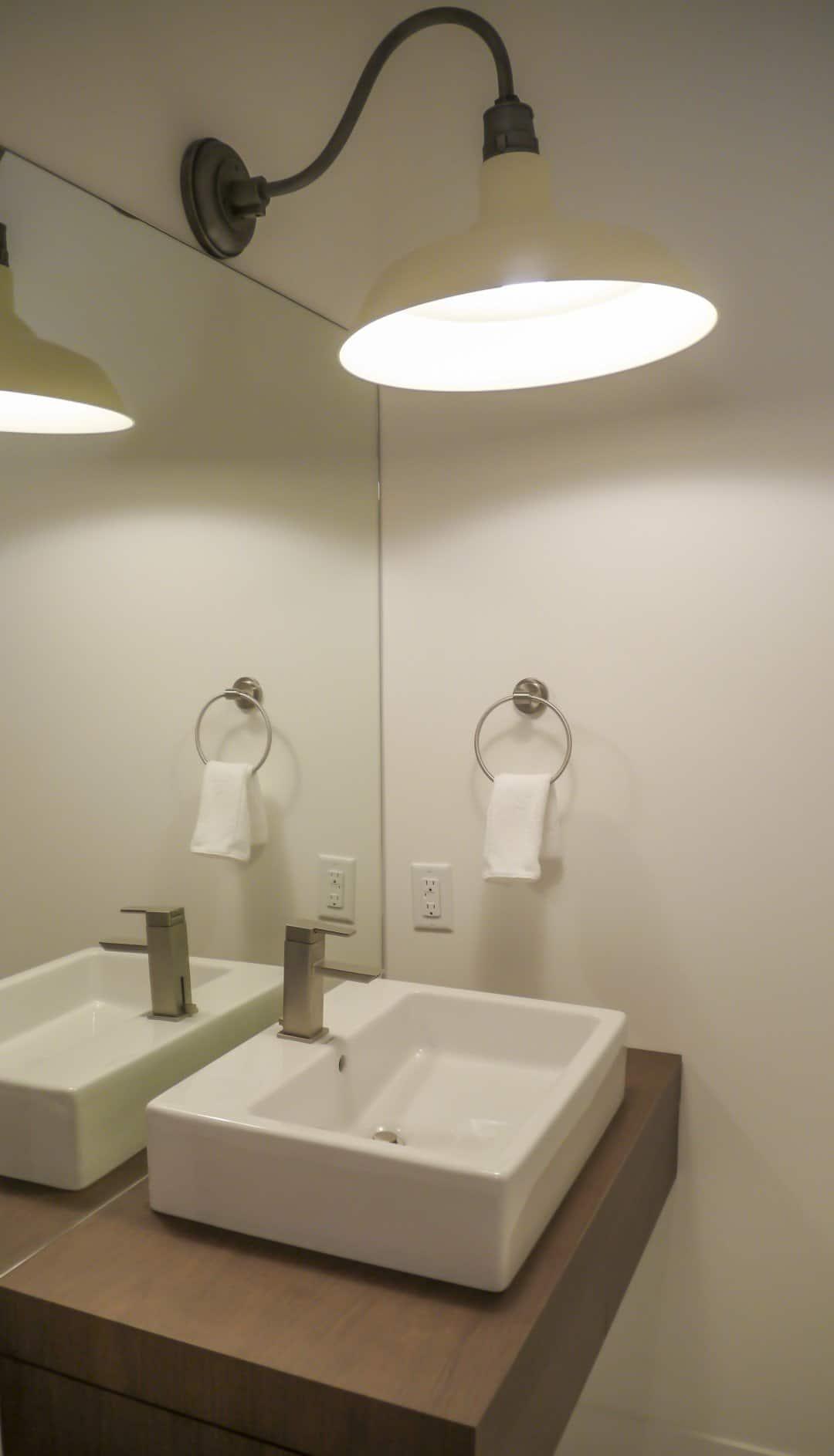 Large bathroom light