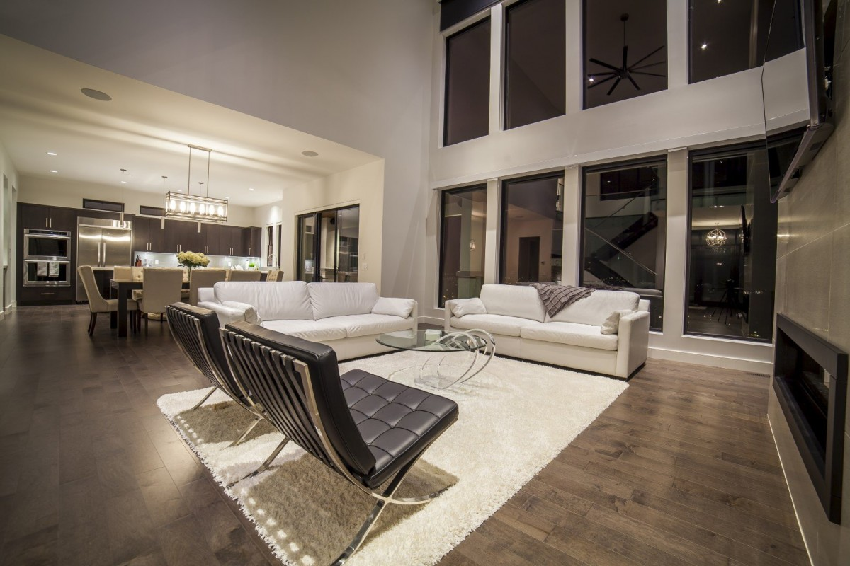 Modern Home Open Concept Living Room
