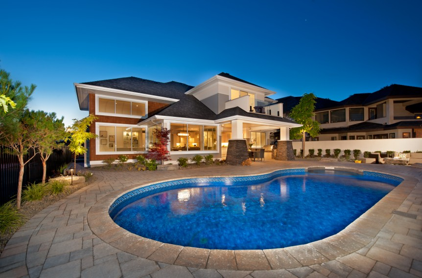 Show Home Exterior Pool