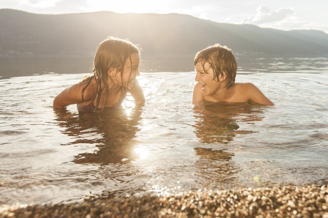Swimming in Okanagan Lake