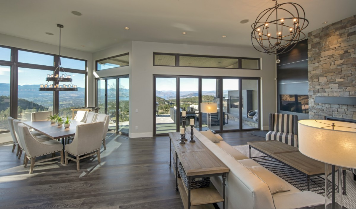 Open concept living rooms