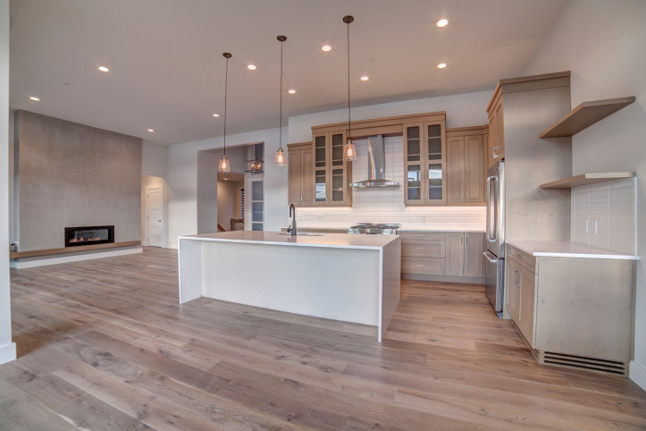 Kitchen living McKinley Beach - Show Home - Custom Home (5)