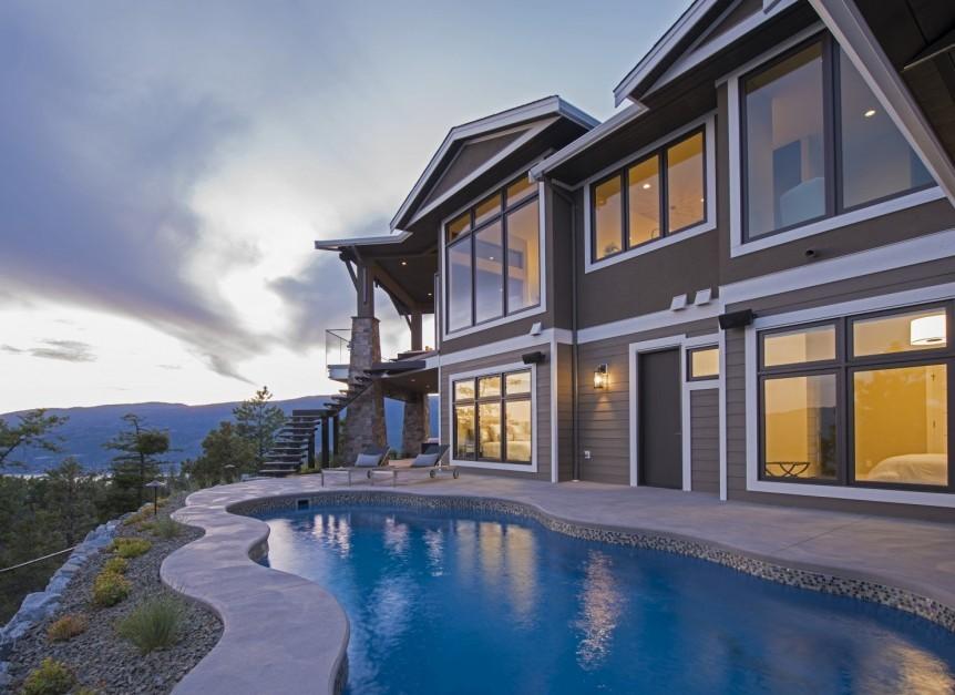 Backyard pool, outdoor living