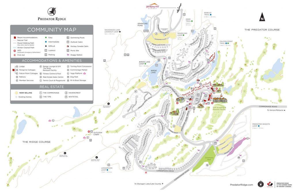 Predator Ridge Community Map 2017