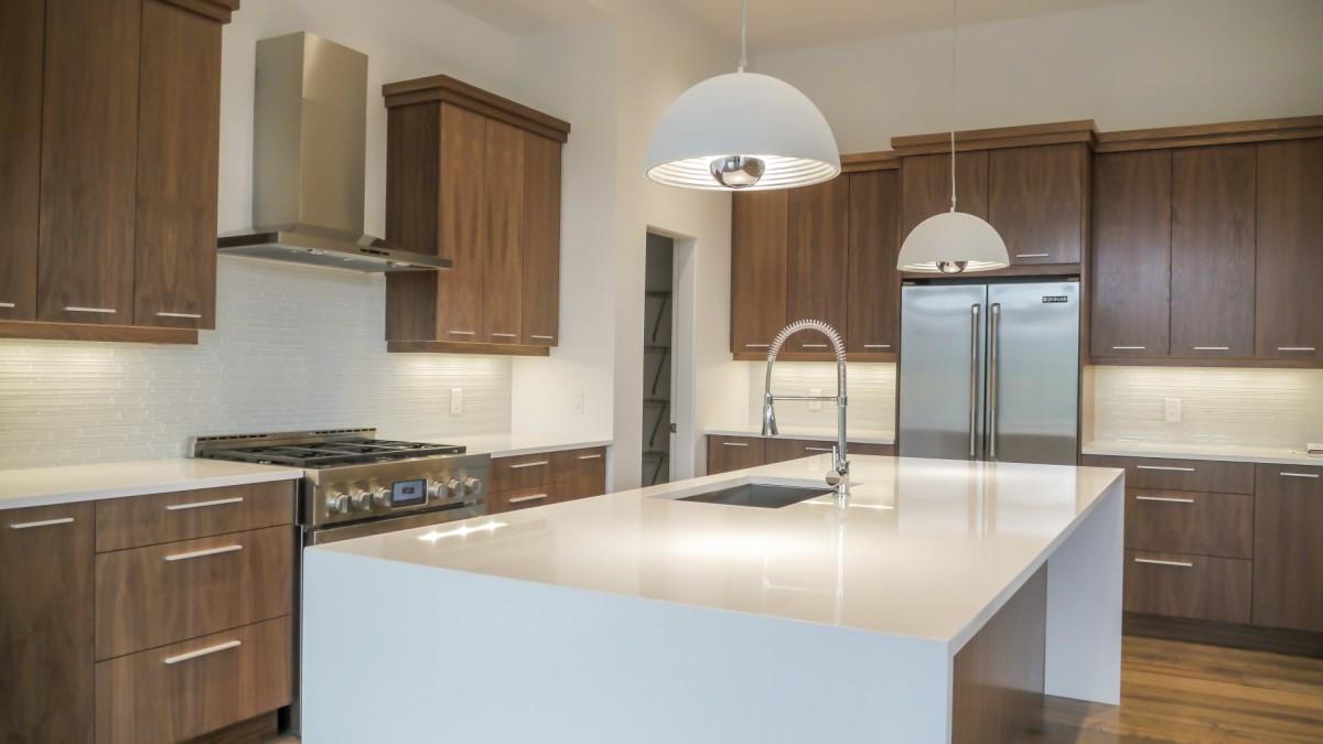 White Counter top kitchen