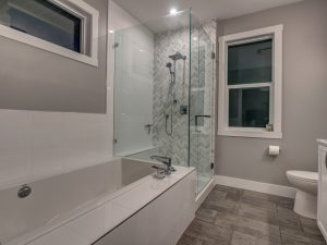Master bathtub and shower combo