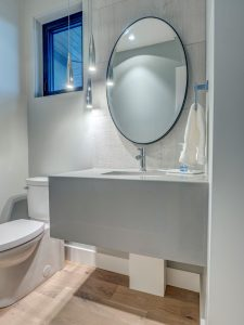 Entry way powder room