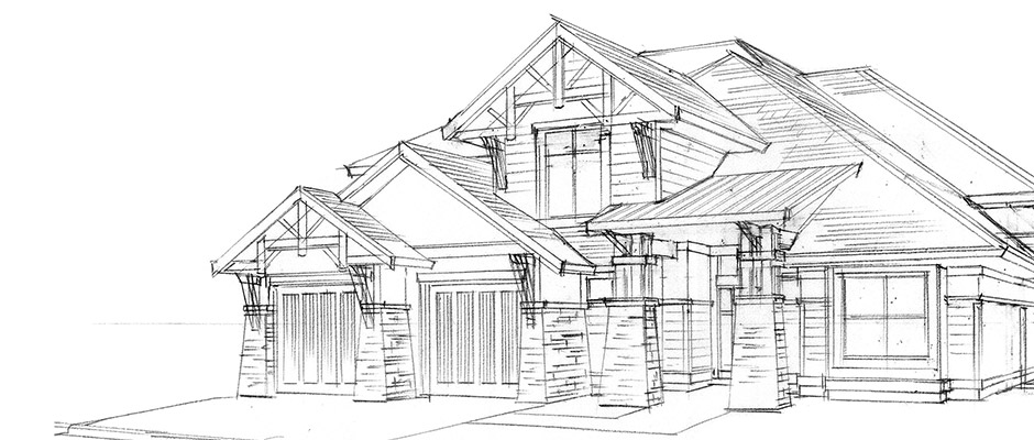 Rykon - Custom Home - Sketch
