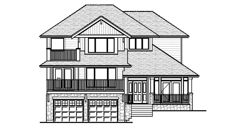 The Upton Custom Home Designed Plan